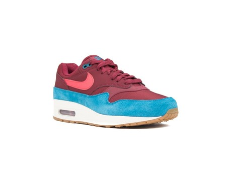 NIKE AIR MAX 1 SHOE TEAM RED-RED ORBIT-GREEN ABYSS-AH8145-601-img-2