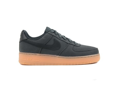 NIKE AIR FORCE 1 '07 LV8 STYLE BLACK-BLACK-GUM MED-AQ0117-002-img-1