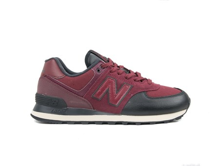 NEW BALANCE 574 CLASSIC BURGUNDY BLACK (LHB)-ML574LHB-img-1