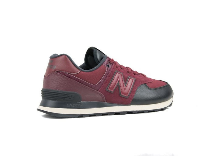 NEW BALANCE 574 CLASSIC BURGUNDY BLACK (LHB)-ML574LHB-img-3