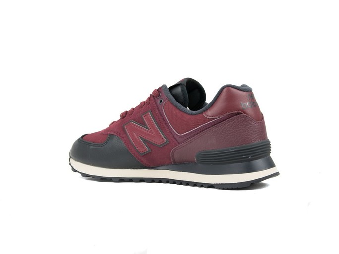 NEW BALANCE 574 CLASSIC BURGUNDY BLACK (LHB)-ML574LHB-img-4