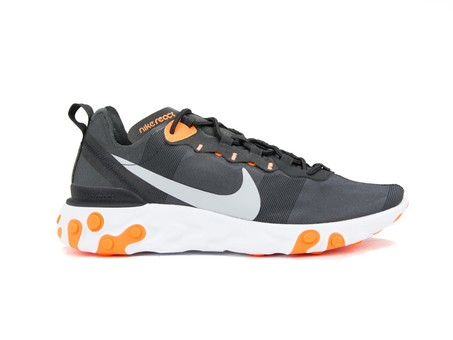 NIKE  REACT ELEMENT 55 BLACK -WOLF GREY-BQ6166-006-img-1
