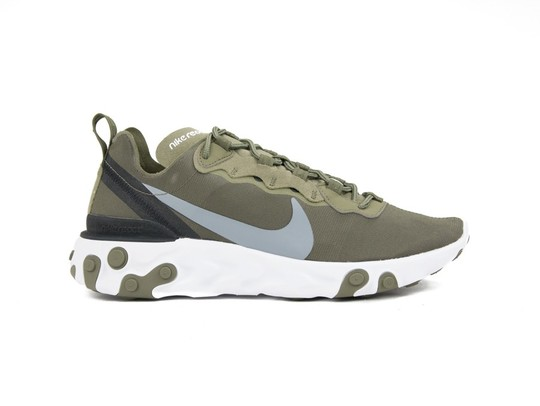 NIKE  REACT ELEMENT 55 MEDIUM OLIVE-BQ6166-200-img-1