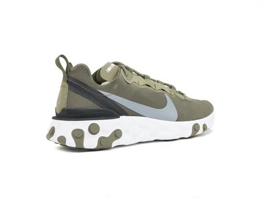 4a70429434 NIKE REACT ELEMENT 55 MEDIUM OLIVE - BQ6166-200 - TheSneakerOne