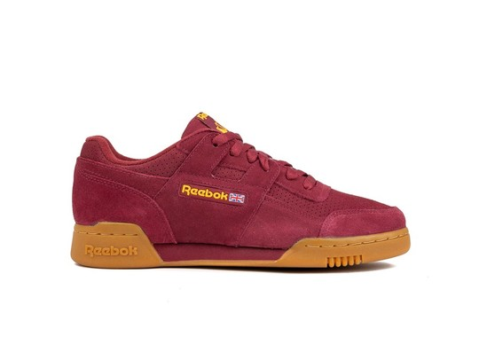 REEBOK WORKOUT PLUS SUEDE PERF GUM PACK RED SOLAR-DV4285-img-1