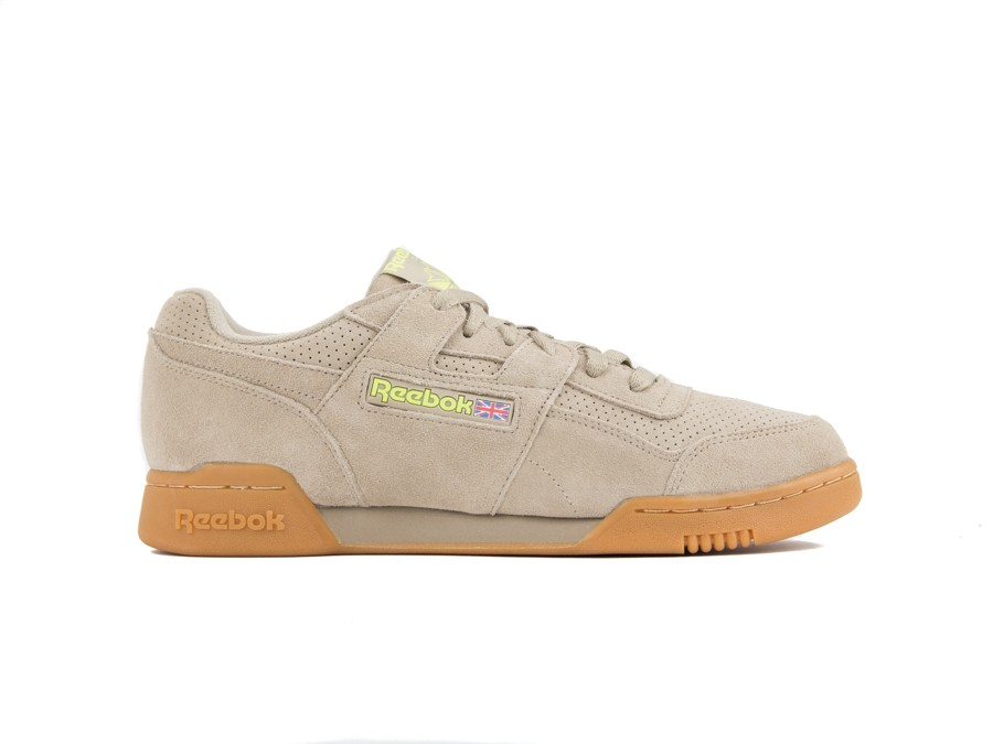 REEBOK WORKOUT PLUS SUEDE PERF GUM PACK SAND-DV4286-img-1