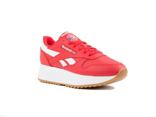 REEBOK CL LTHR DOUBLE PRIMAL RED WHT COBAL-DV3632-img-2