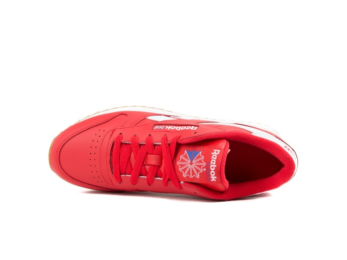 REEBOK CL LTHR DOUBLE PRIMAL RED WHT COBAL-DV3632-img-6