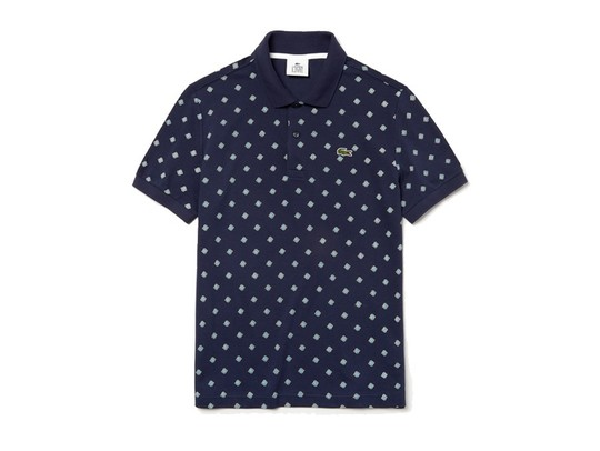 POLO LACOSTE PRINTED MINI PIQUE MARINE-PH3648-QRN-img-1