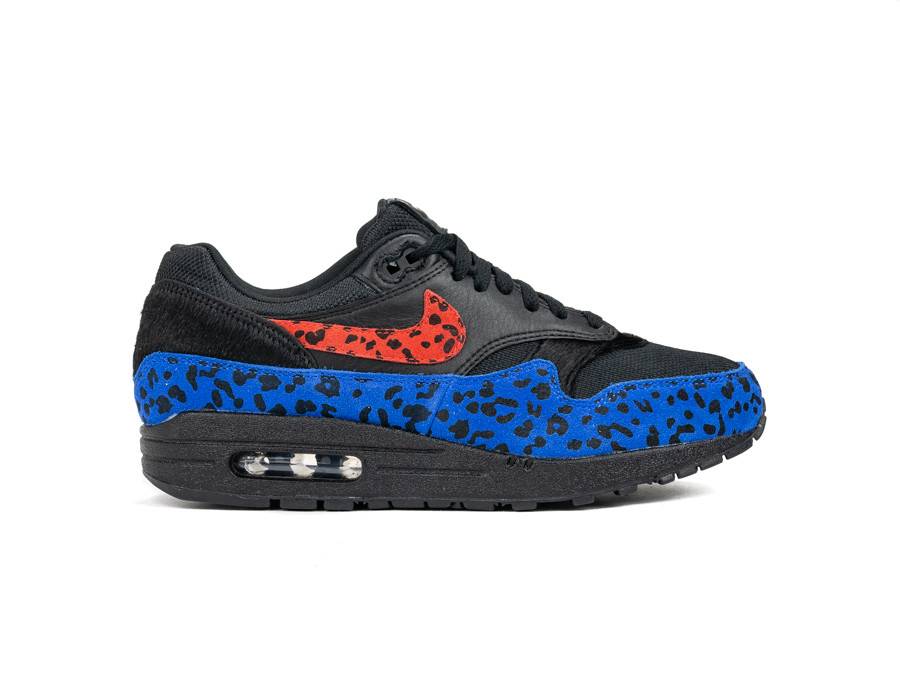 NIKE W AIR MAX 1 PRM BLACK HABANERO RED-RACER BLUE-BV1977-001-img-1