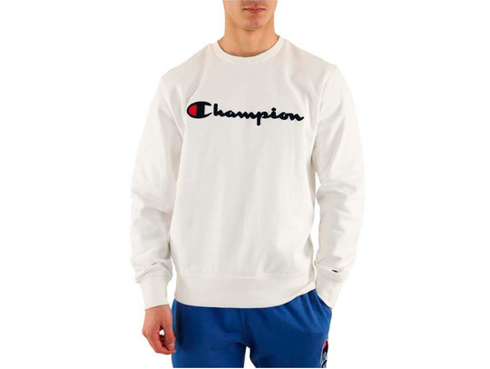 SUDADERA CHAMPION LOGO WHITE-212942-WW001-img-1