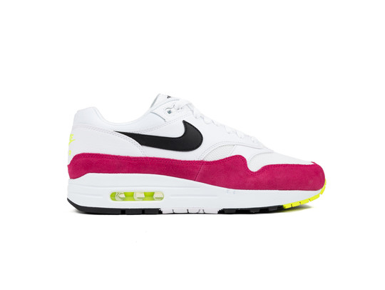 new products b7c80 fc9dd NIKE AIR MAX 1 WHITE BLACK-VOLT-RUSH PINK-AH8145-111-