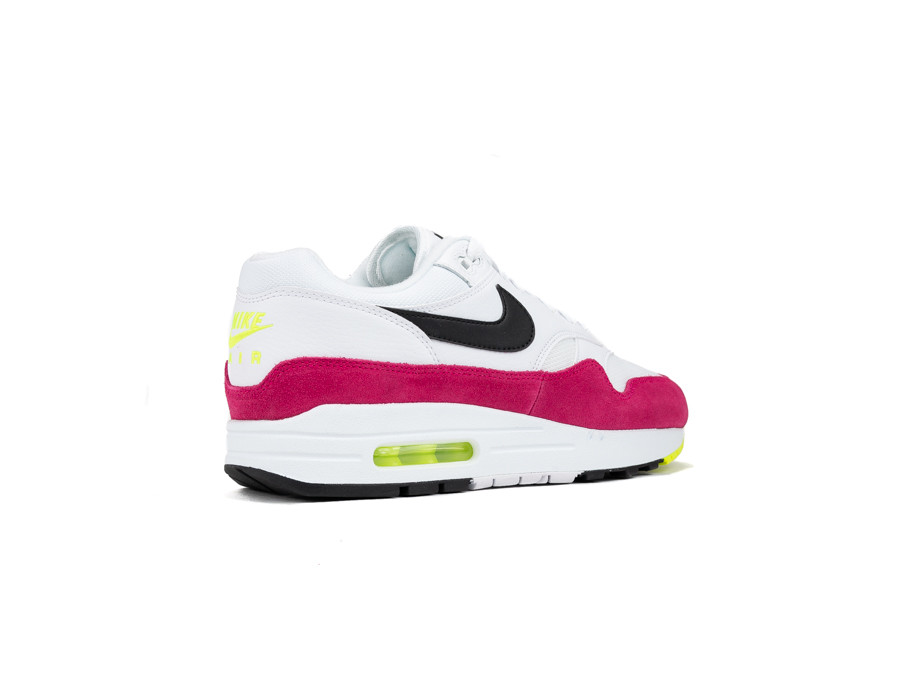 Nike Air Max 1 (WhiteBlack Volt Rush Pink 7.5