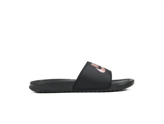 NIKE BENASSI JUST DO IT. SANDAL WOMEN BLACK-ROSE GOLD-343881-007-img-1