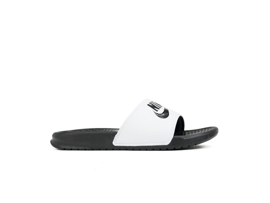 NIKE BENASSI JUST DO IT. SANDAL WHITE BLACK-BLACK-343880-100-img-1