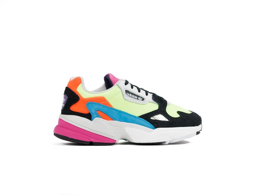 ADIDAS FALCON W MULTICOLOR - CG6210 - Sneakers Mujer ...
