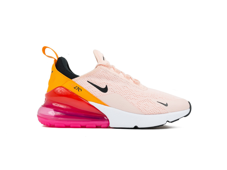 NIKE AIR MAX 270 WOMEN WASHED CORAL BLACK LASER FU