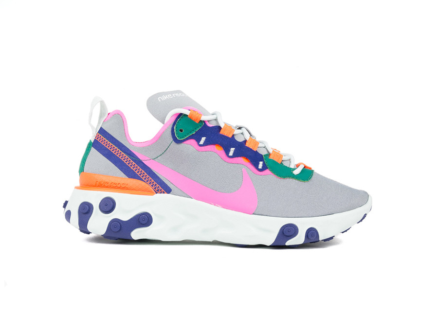 55 Wolf Nike Element Grey Laser Fuchsia React 6gfY7vyb
