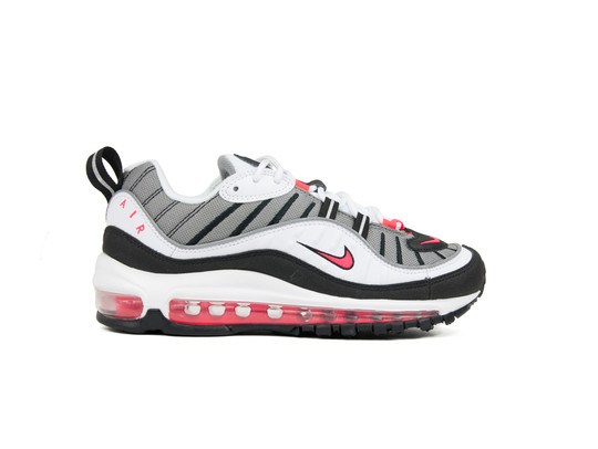 NIKE AIR MAX 98 WOMEN WHITE-SOLAR RED-DUST-REFLECT SILVER-AH6799-104-img-1