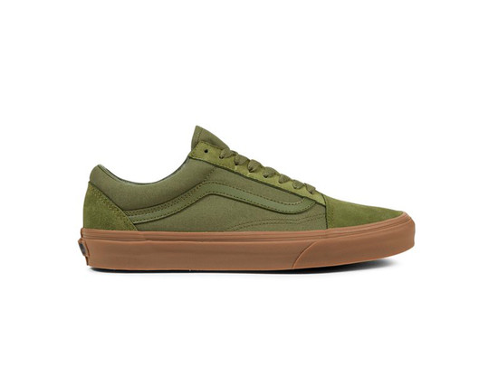 Vans Ols Skool Suede Canvas Dark Green-VA38G1QW4-img-1