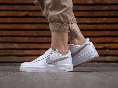 NIKE AIR FORCE 1 LV8 1 WHITE ATMOSPHERE GREY-AV0743-100-img-7