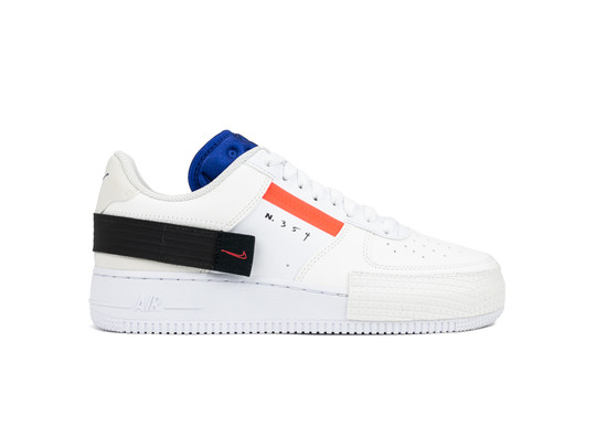 NIKE AIR FORCE 1 TYPE SUMMIT WHITE RED ORBIT-CI0054-100-img-1