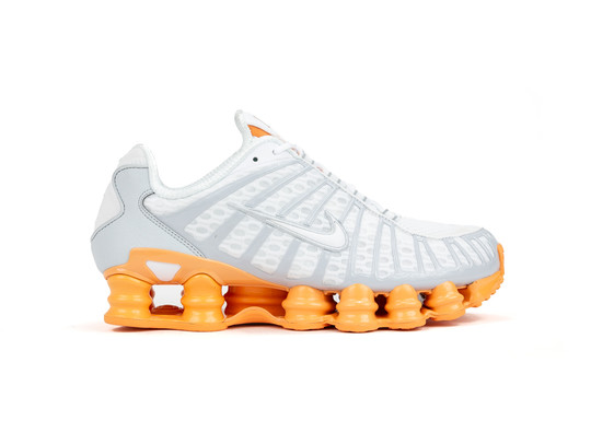NIKE SHOX TL WHITE PURE PLATINUM ORANGE-AR3566-101-img-1