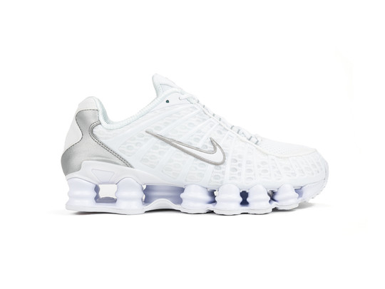 NIKE SHOX TL WHITE-WHITE-METALLIC SILVER-MAX ORANGE-AR3566-100-img-1