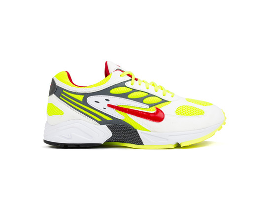 NIKE AIR GHOST RACER WHITE ATOM RED NEON YELLOW-AT5410-100-img-1