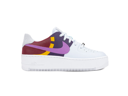 NIKE AIR FORCE 1 SAGE LOW LX FOOTBALL GREY DARK ORCHID TEAM RED-BV1976-003-img-1