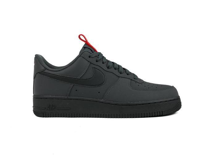 nike air force 1 gris y negro