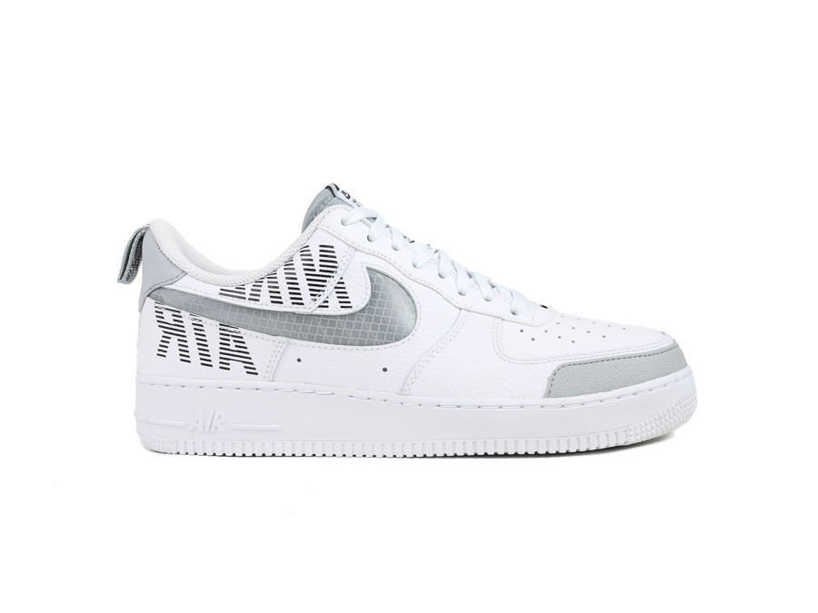 NIKE AIR FORCE 1 07 LV8 2 WHITE WOLF GREY BLACK