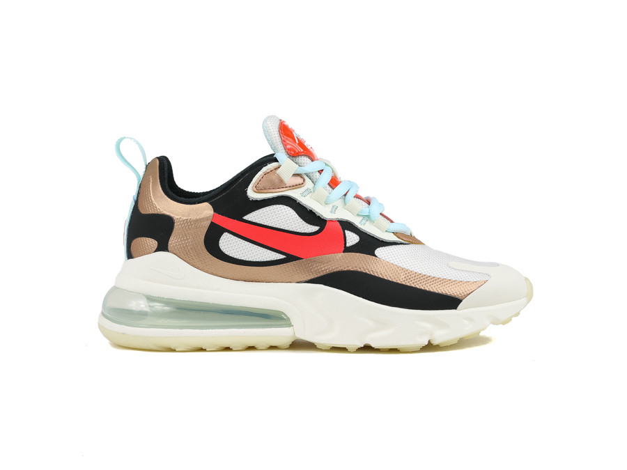 NIKE WOMEN AIR 270 REACT SAIL BLACK MTLC RED BRONZ