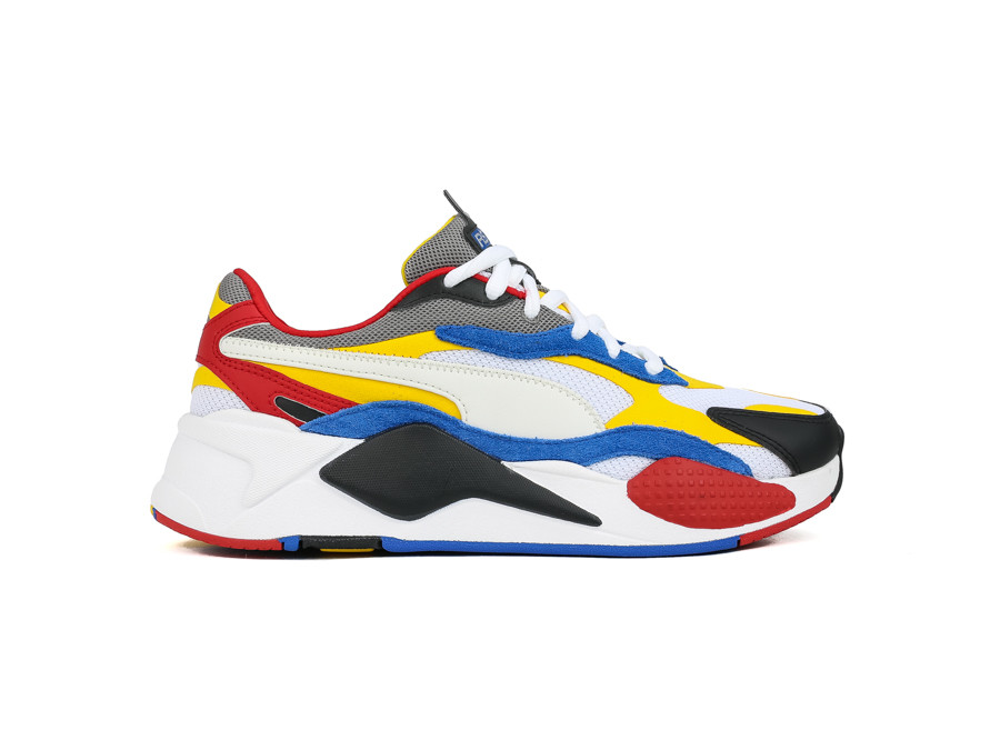 PUMA RS-X³ PUZZLE WHITE-SPECTRA YELLOW