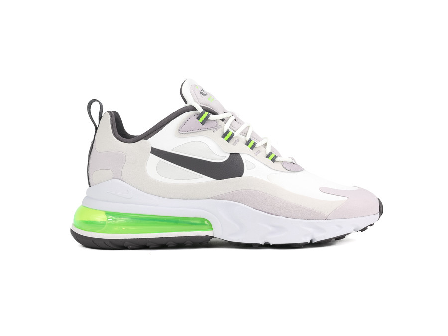 NIKE AIR MAX 270 REACT SUMMIT WHITE ELECTRIC GREEN-VAST GREY