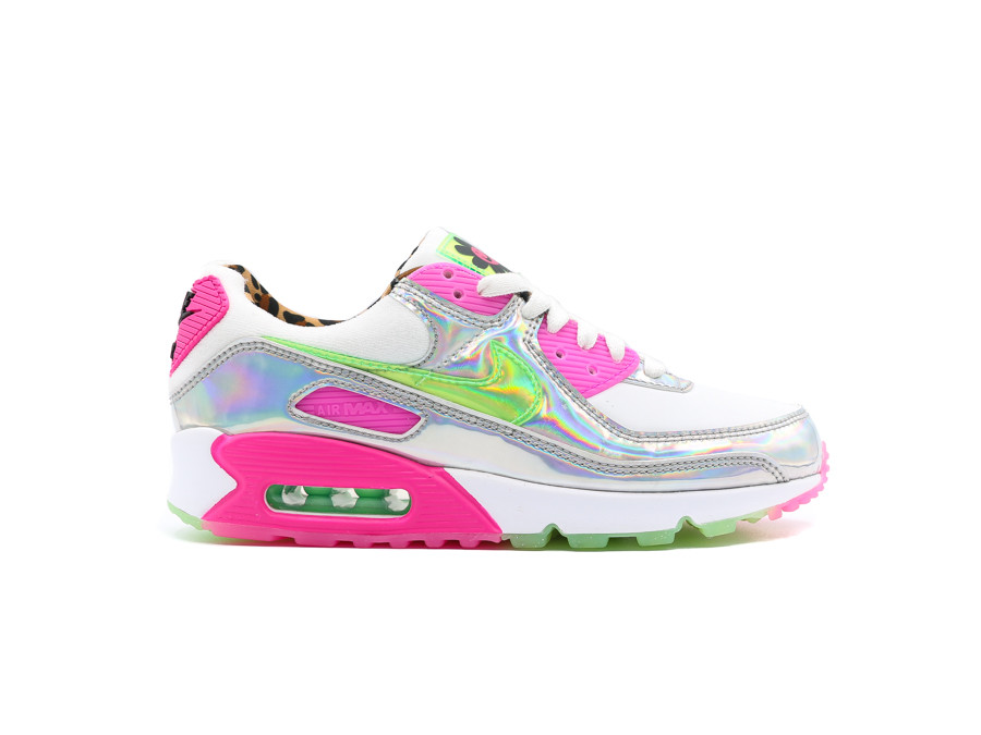 NIKE AIR MAX 90 LX WOMEN WHITE-ILLUSION GREEN-LASE