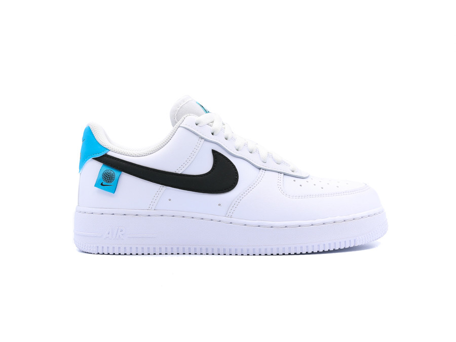 NIKE AIR FORCE 1 WHITE BLUE FURY WORLD WIDE PACK