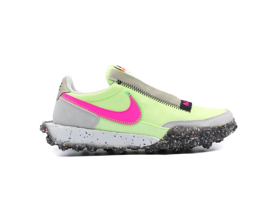 NIKE WAFFLE RACER CRATER BARELY VOLT PINK BLAST