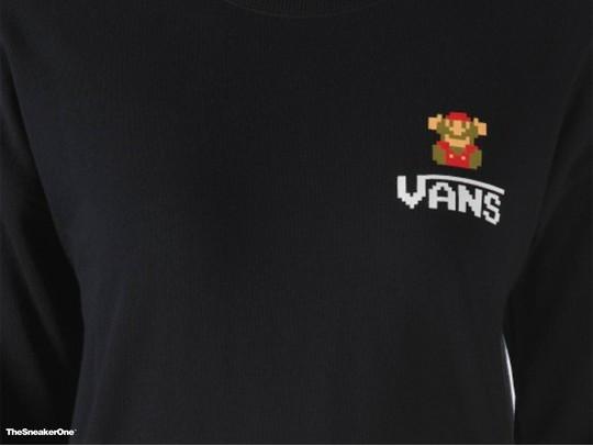 Sudadera sin capucha Super Mario Over Fleece Negra - Vans Nintendo-VYW7BLK-img-2