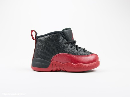 Air Jordan Retro XII Flu Game negra y roja niño-850000-002-img-1