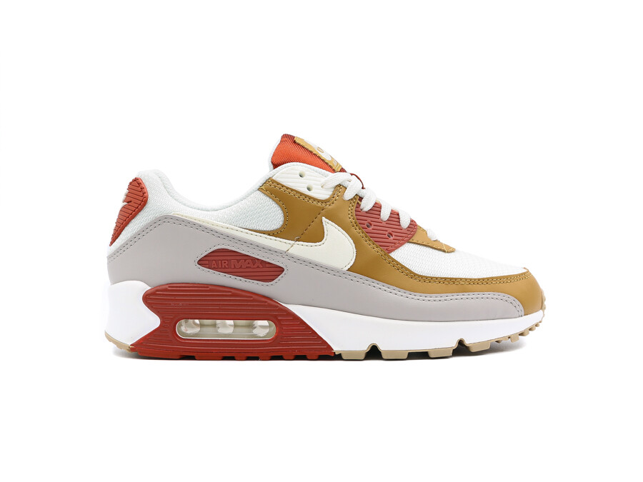 NIKE AIR MAX 90 RUGGED ORANGE SAIL-WHEAT-GUM LIGHT
