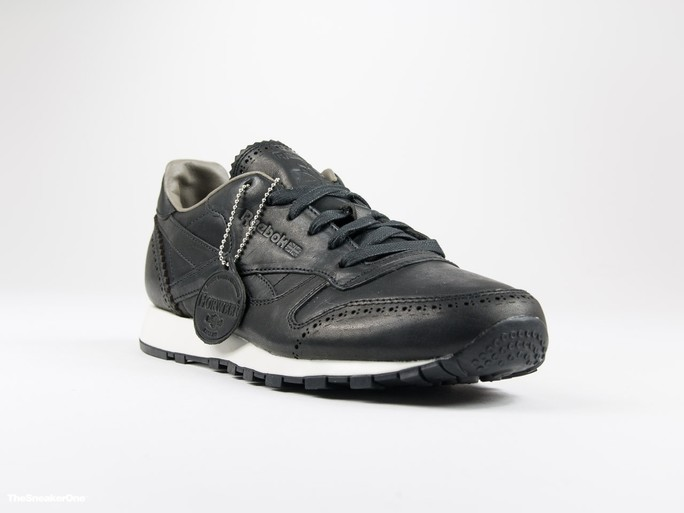 Reebok Classic Leather Lux Horween Black-AQ9961-img-1
