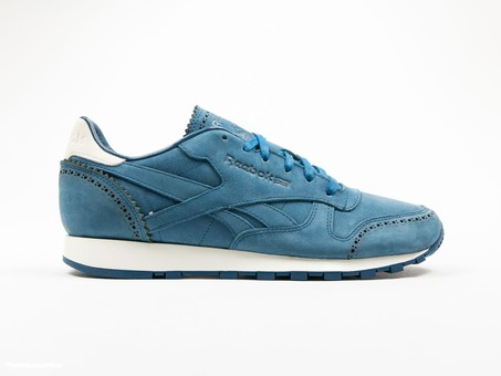 Reebok Classic Leather Lux Horween Noble Blue-AQ9962-img-1