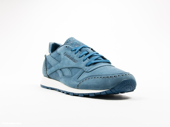 Reebok Classic Leather Lux Horween Noble Blue-AQ9962-img-2