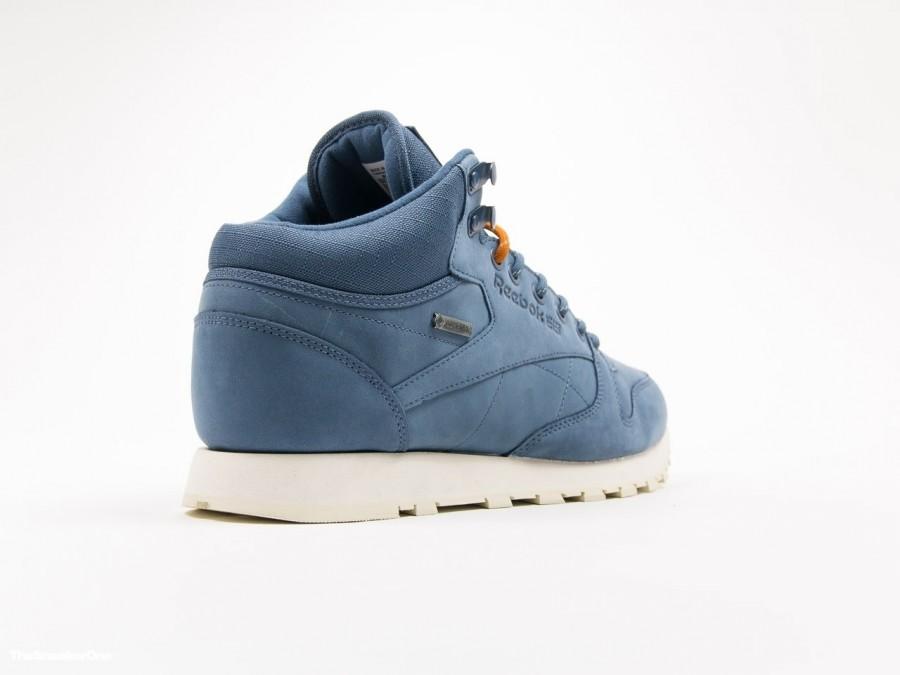 23e82077462 Reebok Classic Leather MID Gore-tex Slate - AQ9850 - TheSneakerOne