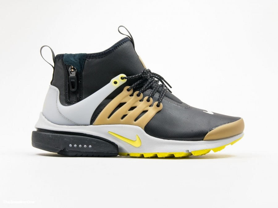 Nike Air Presto Mid Utility Black Yellow