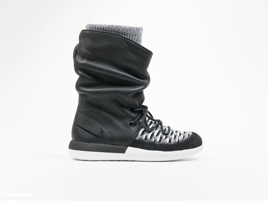 Nike Roshe Two Flyknit Hi Black Wmns-861708-002-img-1