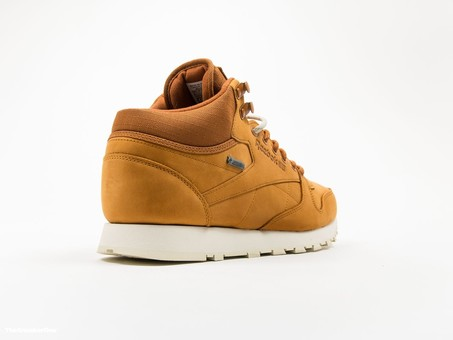 Reebok Classic Leather MID Gore-Tex Brown-AQ9851-img-4