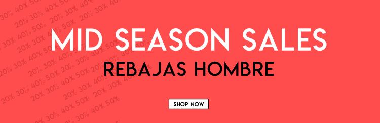 mid season sales rebajas hombre